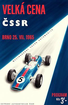 Cssr Grand Prix 1965 Poster by Georgia Fowler