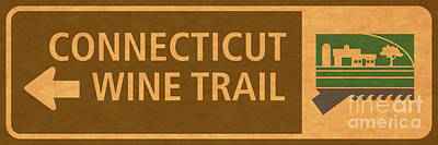 Ct Wine Trail Paper Left Poster