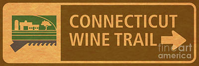 Ct Wine Trail Paper Right Poster