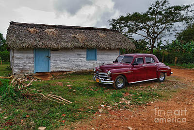 Poster featuring the photograph Cuba Cars 3 by Juergen Klust