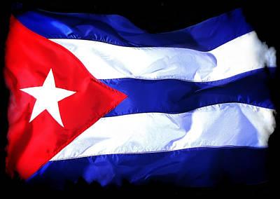 Cuba Flag Distressed Poster