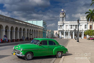 Poster featuring the photograph Cuba Green  by Juergen Klust