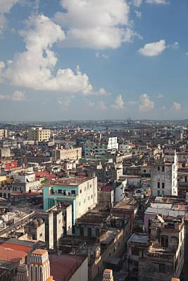 Cuba, Havana, Havana Vieja, Elevated Poster
