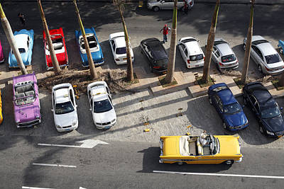 Cuban Classic American Cars Poster