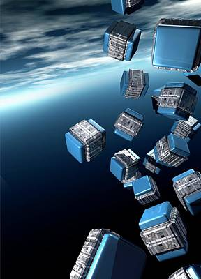 Cubesats Poster by Victor Habbick Visions
