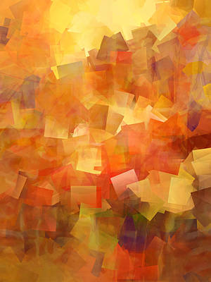 Cubic Lightbreak Poster by Ann Croon