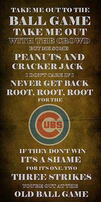 Cubs Peanuts And Cracker Jack  Poster by Movie Poster Prints
