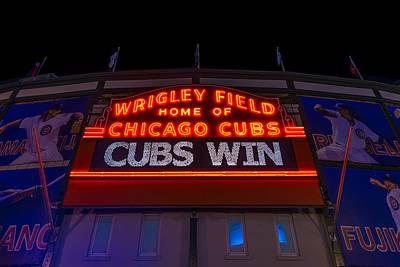 Cubs Win Poster by Steve Gadomski