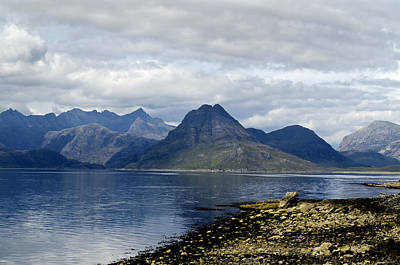 Poster featuring the photograph Cuillin Hills From Elgol Isle Of Skye by Sally Ross