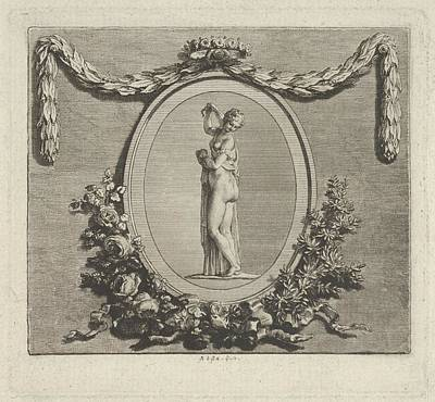 Cul-de-lamp Ad The End Of The Volume Poster by Augustin de Saint-Aubin