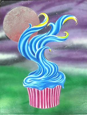 Cup Cake Tree Poster by Nathan Wilson
