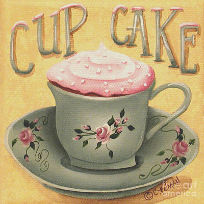 Cup Of Cake Poster by Catherine Holman