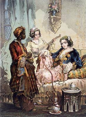 Cup Of Coffee, 1858 Poster by Amadeo Preziosi