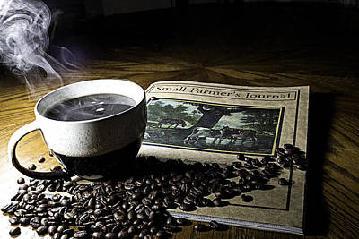 Poster featuring the photograph Cup Of Coffee And Small Farmer's Journal 2 by James Sage