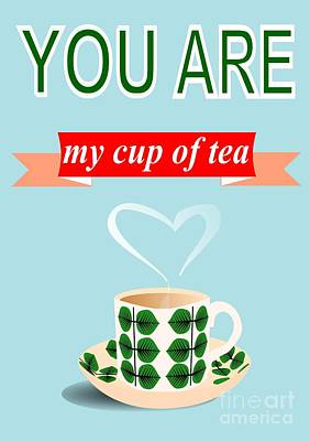 Cup Of Tea Love Poster