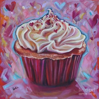 Cupcake Love Poster by Eve  Wheeler