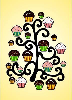 Cupcake Tree Poster by Anastasiya Malakhova