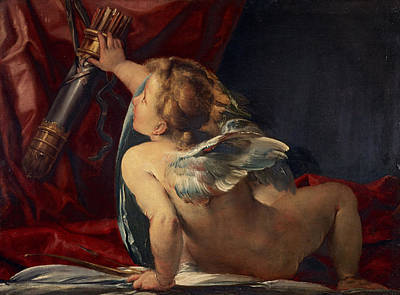 Cupid Cut From A Larger Picture Poster by Giulio Cesare Procaccini