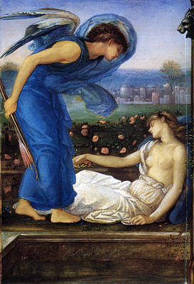 Cupid Finding Psyche Poster by Edward Burne Jones