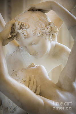Cupid Kissing Psyche Poster