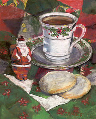 Cuppa Christmaas Tea Poster by Julie Maas