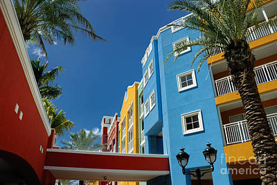 Curacaos Colorful Architecture Poster