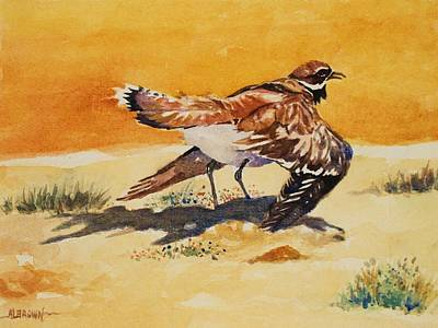 Curious Killdeer Poster