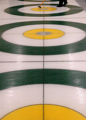 Curling Action. Poster