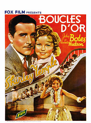 Curly Top, Aka Boucles Dor, Belgian Poster by Everett