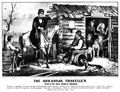 Currier & Ives The Arkansas Traveller Poster by Granger