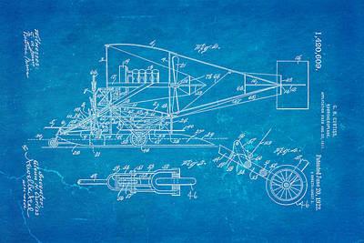 Curtiss Hydroaeroplane Patent Art 2 1922 Blueprint Poster