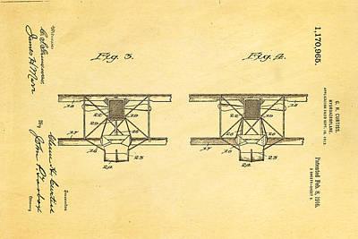 Curtiss Hydroplane Patent Art 3 1916 Poster