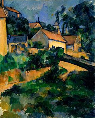 Curve In The Road At Montgeroult Poster by Paul Cezanne