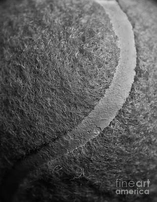 Curved Line Of A Tennis Ball Poster