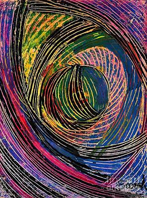 Curved Lines 6 Poster