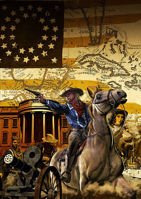Custer In Chains Poster by Kurt Miller