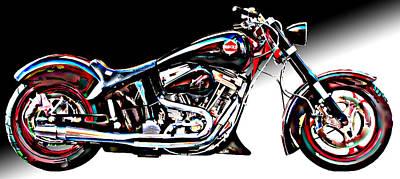 Custom Bike Study 1 Poster by Samuel Sheats