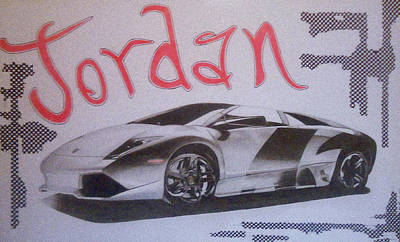 Custom Name With Lamborghini Poster by G Marie