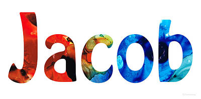 Customized Baby Kids Adults Pets Names - Jacob 5 Name Poster
