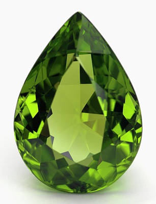 Cut Peridot Gemstone Poster by Dorling Kindersley/uig