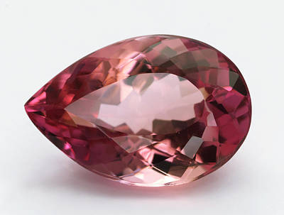 Cut Pink Topaz Gemstone Poster by Dorling Kindersley/uig