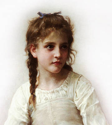 Poster featuring the painting Cute Little Girl by Bouguereau