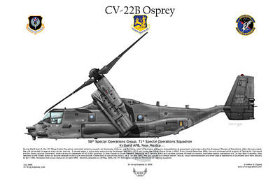 Cv-22b Osprey 71st Sos Poster by Arthur Eggers