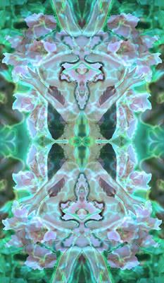 Cyan Fairy Kiss Of Enlightenment Poster by Deprise Brescia