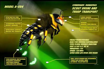 Cybergen Robotics Insectoid Scout Drone Poster