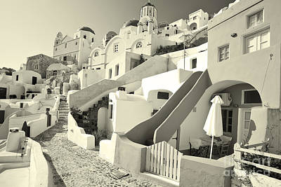Poster featuring the photograph Cycladic Style Houses by Aiolos Greek Collections