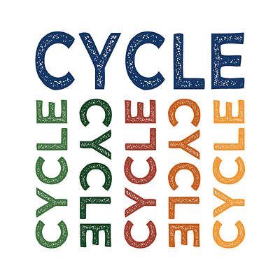 Cycle Cute Colorful Poster by Flo Karp