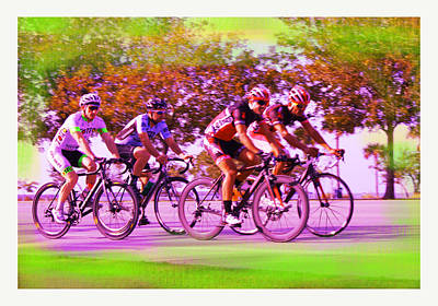 Cyclists Poster by Doug Walker