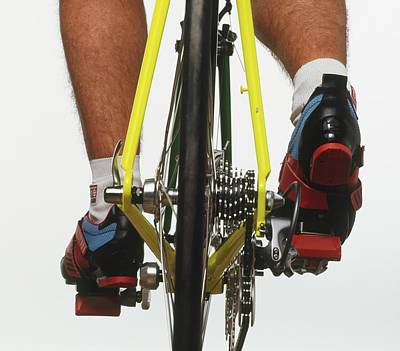 Cyclists Feet On Pedals Poster