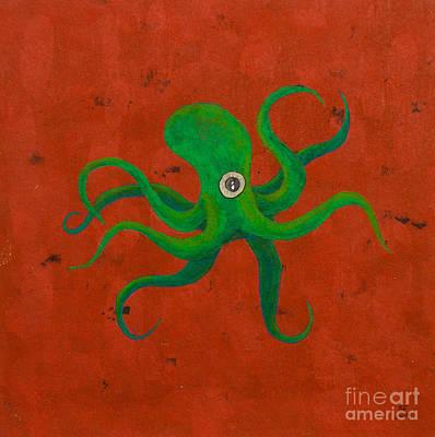 Cycloptopus Red Poster by Stefanie Forck